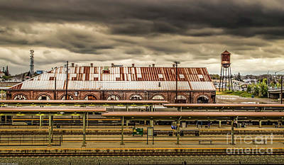 Outdoor Graphic Tees - Sacramento Train Station by Mitch Shindelbower