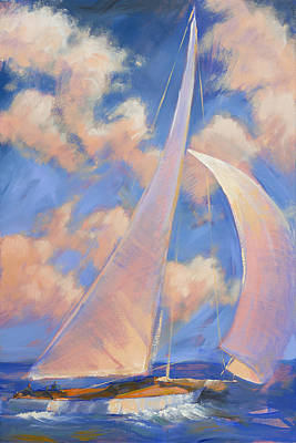 Painting - Sailing Away - 1 by Aaron Bowles