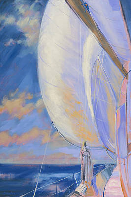 Painting - Sailing Away - 2 by Aaron Bowles
