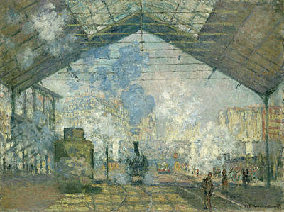 Watercolor Alphabet - Saint-Lazare Station by Celestial Images