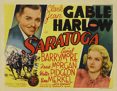 Royalty-Free and Rights-Managed Images - Saratoga 2, with Clark Gable and Jean Harlow, 1937 by Stars on Art