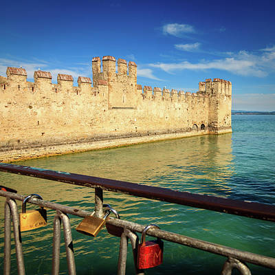 Spot Of Tea Royalty Free Images - Scaligero Castle Royalty-Free Image by Alexey Stiop