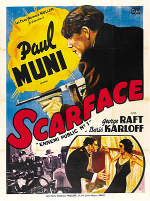 Mixed Media Royalty Free Images - Scarface - 1932 Royalty-Free Image by Stars on Art