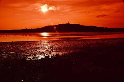 Old Masters - Scrabo Tower Sunset  by Neil R Finlay