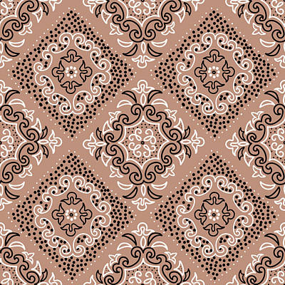 Royalty-Free and Rights-Managed Images - Seamless pattern with watercolor ornament by Julien