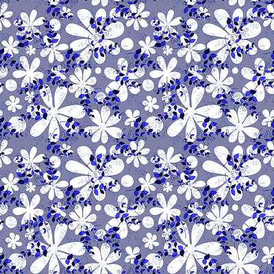 Royalty-Free and Rights-Managed Images - Seamless traditional ornament indigo pattern by Julien