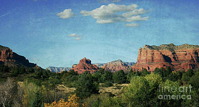 Surrealism Royalty-Free and Rights-Managed Images - Sedona Landscape by Debby Pueschel