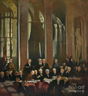 Colorful People Abstract Royalty Free Images - Signing of the Treaty of Versailles, 1919 Royalty-Free Image by JL Images