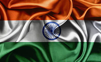 David Bowie - Silky India flag by Les Cunliffe