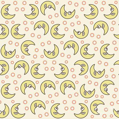 Marvelous Marble - Smiling moons pattern by Gaspar Avila