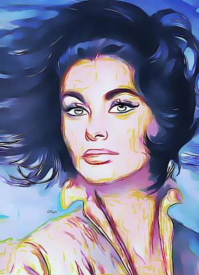 Painting Royalty Free Images - Sophia Loren portrait Royalty-Free Image by Nenad Vasic