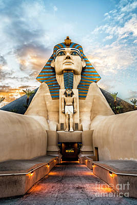 Typography Tees - Sphinx at the Luxor on the Las Vegas Strip by Bryan Mullennix