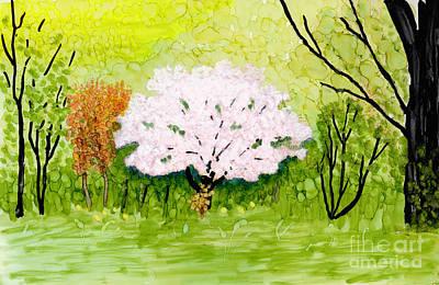 Studio Grafika Typography - Spring Apple Blossom Tree 2 by Conni Schaftenaar
