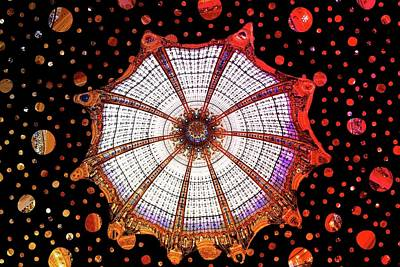 Urban Abstracts Royalty Free Images - Stained glass dome, Galeries Lafayette, Paris Royalty-Free Image by Joe Vella