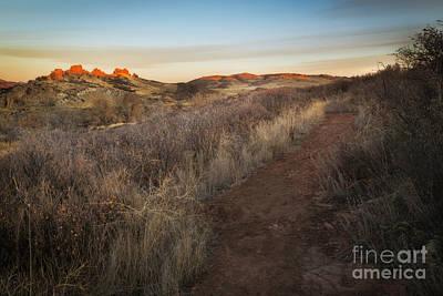 Giuseppe Cristiano - Sunrise on The Devils Backbone in Loveland Colorado by Ronda Kimbrow