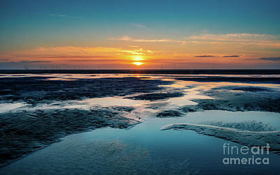 Photograph - Sunset Across Formby Beach by Andrew George Photography