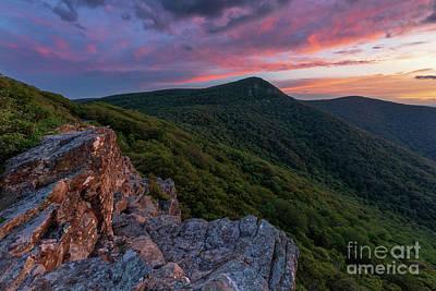 Photograph - Sunset on Hawksbill Mountain by Brandon Adkins