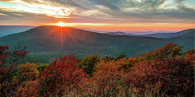 Door Locks And Handles - Sunset Point Vista Panorama Along the Talimena Scenic Byway Drive in Autumn by Gregory Ballos