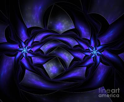 Surrealism Royalty-Free and Rights-Managed Images - Surreal flowers fractal by Beautiful Things