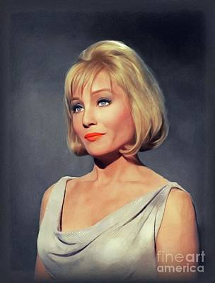 Painting - Susan Oliver, Vintage Actress by John Springfield