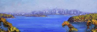 Target Threshold Watercolor - Sydney Harbour by Graham Gercken