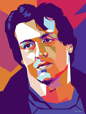 Royalty-Free and Rights-Managed Images - Sylvester Stallone by Stars on Art