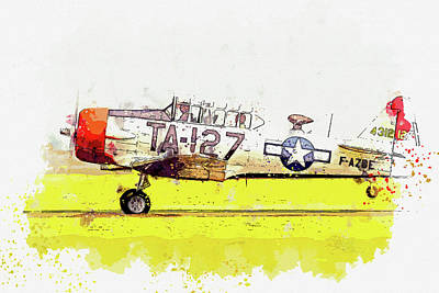 Rowing - T-in watercolor ca by Ahmet Asar  by Celestial Images