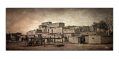 Pop Art Rights Managed Images - Taos Pueblo Royalty-Free Image by Christine Hauber