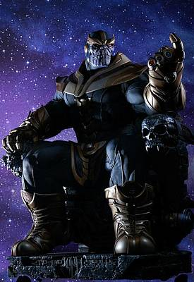 Water Droplets Sharon Johnstone - Thanos by Michael Stout