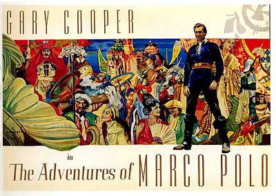 Mixed Media Royalty Free Images - The Adventures of Marco Polo, with Gary Cooper, 1938 Royalty-Free Image by Stars on Art