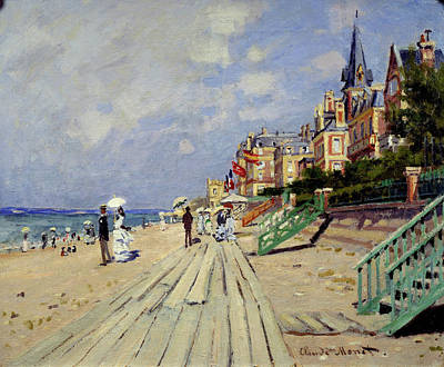 Watercolor Alphabet - The Beach at Trouville by Celestial Images