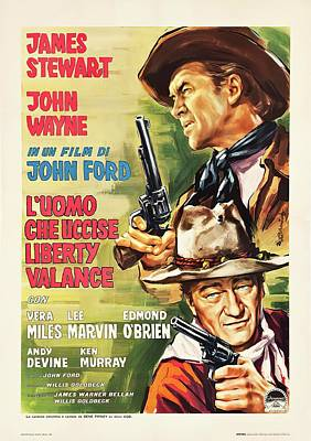 Royalty-Free and Rights-Managed Images - The Man Who Shot Liberty Valance, with James Stewart, 1962 by Stars on Art