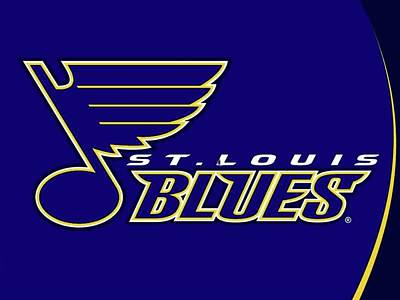 Sports Royalty-Free and Rights-Managed Images - The St Louis Blues by Michael Stout
