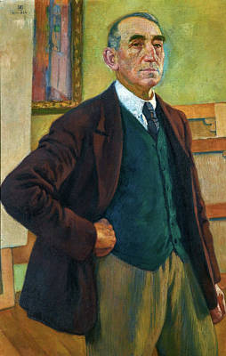 Animal Portraits - Theo van Rysselberghe 1862  1926 SELF PORTRAIT WITH A GREEN VEST by Artistic Rifki