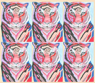Animals Digital Art - Tiger Pop Art IV by Jennifer Lommers