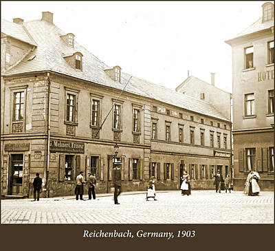 Tool Paintings - Town Square, Reichenbach, Germany, 1903 by A Macarthur Gurmankin