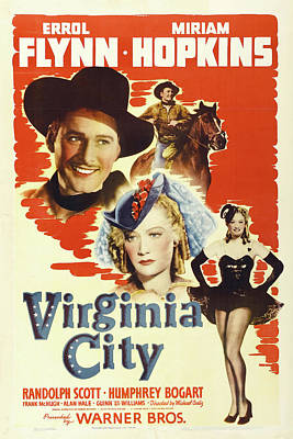 Royalty-Free and Rights-Managed Images - Virginia City, with Errol Flynn and Miriam Hopkins, 1940 by Stars on Art