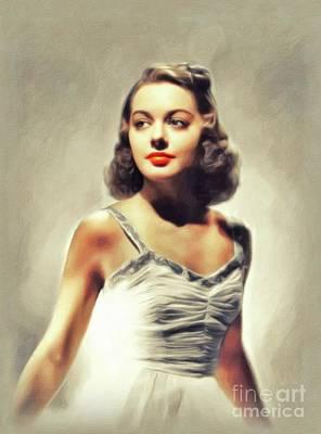Painting - Wanda McKay, Vintage Actress by John Springfield