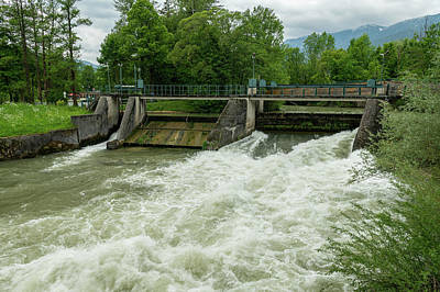Beastie Boys - Weir on the river Schwarza in Reichenau on a cloudy day in summer by Stefan Rotter