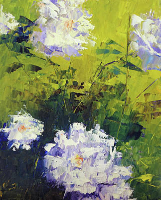 Painting - White Roses by Terry Chacon