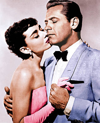 Royalty-Free and Rights-Managed Images - William Holden and Audrey Hepburn  by Stars on Art