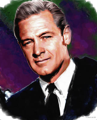 Curated Round Beach Towels - William Holden by Stars on Art
