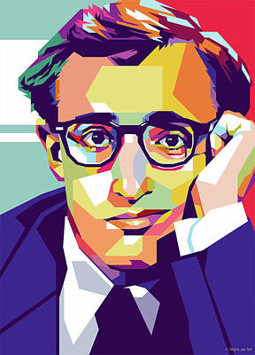 Royalty-Free and Rights-Managed Images - Woody Allen by Stars on Art