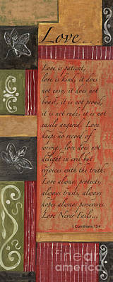 Ballerina Art - Words to Live By, Love  by Debbie DeWitt