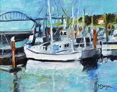 Painting - Yaquina Bay, Newport by Mike Bergen