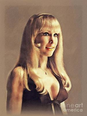 Door Locks And Handles - Barbara Eden, Vintage Actress by John Springfield