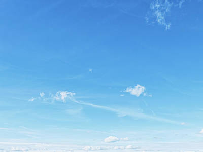 Valentines Day - Bright blue sky with clouds, nature and environment by Anneleven Home