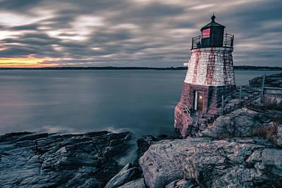 Lady Bug - Oldcastle Lighthouse In Newport Rhode Island by Alex Grichenko
