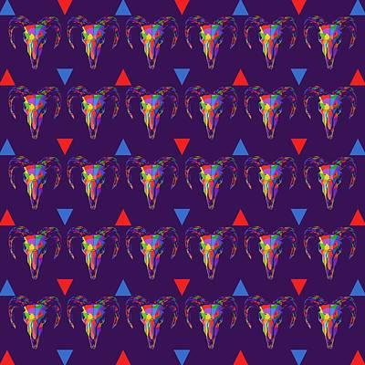 Thomas Kinkade Royalty Free Images - Skull Pattern Wpap Style Purple Background Royalty-Free Image by Ahmad Nusyirwan