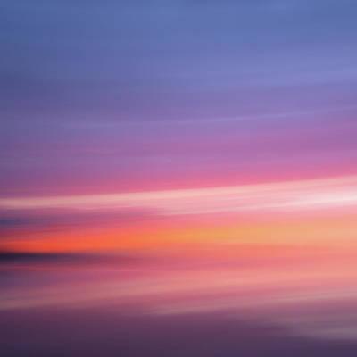 Photograph - Abstract Beach Photography From Rio Jara Beach Spain - Sunset Horizon Landscape by Finn Bjurvoll Hansen